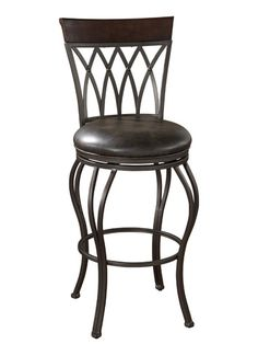 Abella Aged Iron Bar Stool With Tobacco Leather Cushion American Heritage Billiards Bar He Tall Bar Stools, Swivel Counter Stools, Counter Height Bar Stools, Modern Bar Stools, Bar Chairs, Room Chairs, Dining Chairs, Pink Chairs, Kitchen Stools