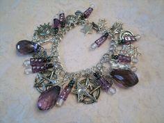 Amethyst Nights Pentacle Charm Bracelet Wiccan Jewelry Pagan ...