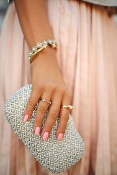 Tasha Crystal Swirl clutch