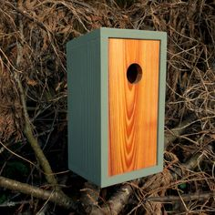 this simple attractive birdhouse makes me want to put this in my backyard