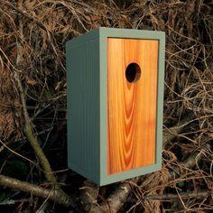 Birdhouse, modern minimalist- The Cedar Plank