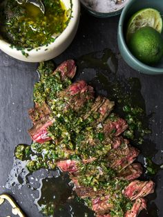 Beef Bavette with Chimichurri Sauce