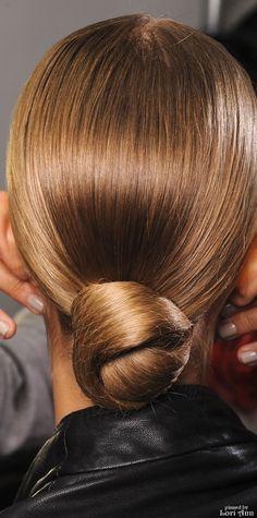 Hair styling for Ralph Lauren Spring 2013 Backstage  Via Womenstime.net