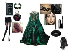 """""""Masquerade Ball"""" by bossawsome16 ❤ liked on Polyvore featuring Dsquared2, Killstar, Design Lab, MAC Cosmetics, Bobbi Brown Cosmetics, Lime Crime, Christian Dior and Chantal Thomass"""
