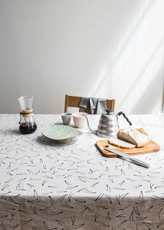Fine Little Day - BARR TABLECLOTH, NATURE/BLACK
