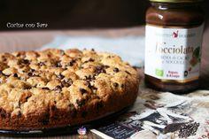 Iniziamo la giornata con il sorriso, con una fetta di questa golosissima torta cookies con Nocciolata!