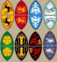 FREE PRINTABLE: Heraldic Banner Cake...no PIE...Toppers. Game of Thrones Gathering.