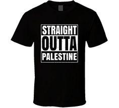 Straight Outta Palestine Arkansas City Grunge T Shirt L B...