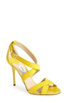 Free shipping and returns on Jimmy Choo 'Louise' Crossover Strap Sandal (Women) at Nordstrom.com. Tonal leather piping traces the edges of textured-fabric straps on a color-saturated sandal crafted in Italy.