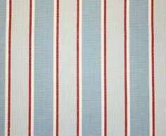 Love this for curtains- Rapino Stripe Fabric A woven cotton stripe in red, sky blue and off white Striped Room, Striped Curtains, Red Curtains, Linen Curtains, Curtain Fabric, Boys Bedroom Wallpaper, Boys Bedroom Curtains, Boys Bedroom Colors, Pink Bedroom For Girls