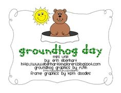 Groundhog Day: A Mini Unit   - Pinned by @PediaStaff – Please Visit http://ht.ly/63sNt for all our pediatric therapy pins