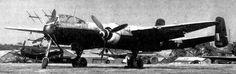 Heinkel He 219A-7 Uhu (Wk Nr. 290126), RAF AM20 with night camouflage paint scheme at Farnborough.