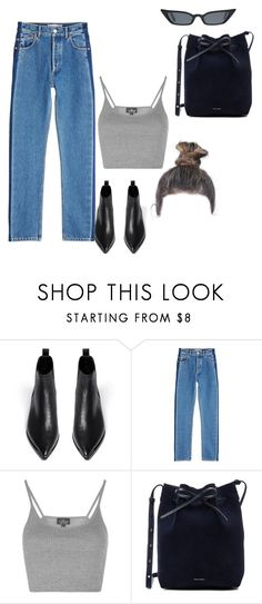 """christmas shopping"" by stylistcookies ❤ liked on Polyvore featuring Acne Studios, Balenciaga, Topshop and Mansur Gavriel"