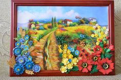 Quilled Country Scene - by: Irina Anatolyevna