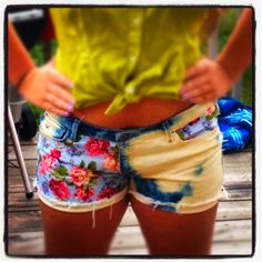 DIY Shorts <3 i want to try bleach on shorts...