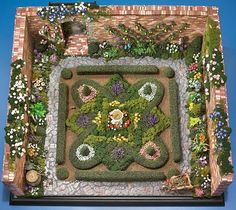 amazing miniature garden, are those real plants ?