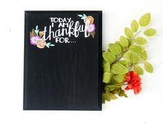The Ultimate Thanksgiving Gift Guide -- Your Gift Girls  Thankful Chalkboard by Honey and the Hive