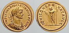 Roman Empire Diocletianus 284-305AD AV Aureus ND 286AD Rome Mint FDC my coll.