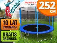 Trampolina ogrodowa 8ft/252cm z siatką zewnętrzną i drabinką Neo-Sport