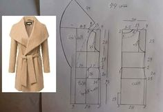 2014 Women's Korean Style Brand New Fall Winter Warm Long Section Woolen Coats Coat Patterns, Dress Sewing Patterns, Clothing Patterns, Sewing Coat, Sewing Clothes, Fashion Sewing, Diy Fashion, Sewing Collars, Make Your Own Clothes