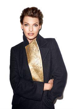 Linda Evangelista Fashion Shoot – Linda Evangelista Fall Fashion Editorial - Harper's BAZAAR...Nice Coat!!