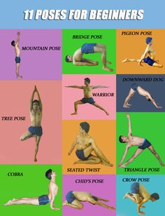 11 yoga poses for beginners.                              …