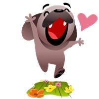 Mugsy In Love Facebook Stickers - Stickers Emoticon