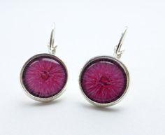 Pink Flower Earrings Pink Flower French Back Earrings by Larryware, £9.00