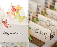 Pretty, Inventive Wedding Reception Escort Cards - MODwedding