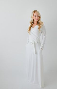 gorgeous temple dress. great wedding dress for a girl who is no-frills! it's simply beautiful.