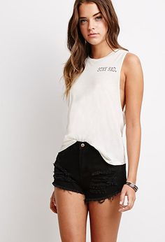Stay Rad Muscle Tee | FOREVER21 - 2000096204