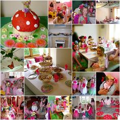 Many lovely fairy party ideas, including printable fairy place cards!