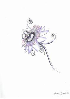 Passiflora Tattoo design