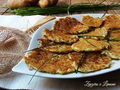 Frittelle di patate all'erba cipollina - ricetta senza olio