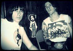 Johnny and C.J. Ramone <3
