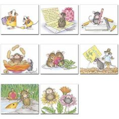 """""""8 Assorted Note Cards / 8 envs"""" from House-Mouse Designs / www.house-mouse.com - (N-6). This item was recently purchased off from our web site, www.house-mouse.com. Click on the image to see more information."""