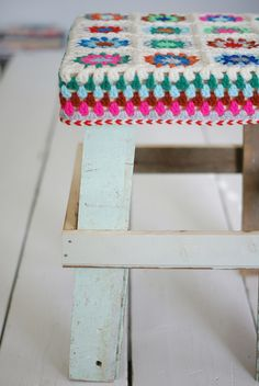 stool on the table by wood & wool stool, via Flickr