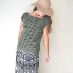 crochet boatneck sweater top clothing pattern