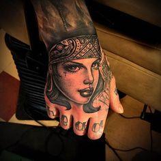 Tattoo by Tim Hendricks #InkedMagazine #tattoo #Tattoos #inked #art #chola #hyna