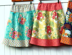Semi Gathered A-Line Skirt New Joel Dewberry by SewingBySelena