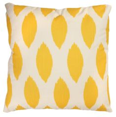 Ikat Yellow Cushion Cover