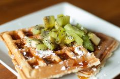 Yummy Vegan Waffles | Bubbles in the Paradise