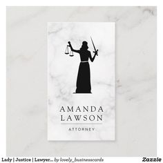 Lady | Justice | Lawyer Appointment Card