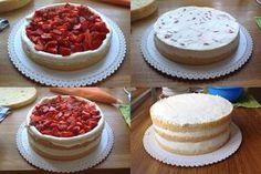 Recept na ovocný narozeninový dort byl jedním z prvních příspěvků na mém blogu. Přestože od jeho zveřejnění už uběhlo více jak dva a půl r... Czech Desserts, How Sweet Eats, How To Make Cake, Cheesecake, Dessert Recipes, Birthday Cake, Vegan, Cupcakes, Food