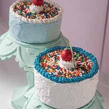 Mini Cake with Cherry on Top