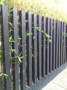 40 DIY Backyard Privacy Fence Design Ideas on A Budget Garden fence: types an. Gabion Fence, Bamboo Fence, Cedar Fence, Wooden Fence, Front Yard Fence, Diy Fence, Pool Fence, Fence Ideas, Farm Fence