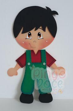 Aplique de menino em EVA para caderno no Elo7 | Pingo Doce-Artes. (E45FE3) Kids Crafts, Easter Crafts, Diy And Crafts, Arts And Crafts, Paper Doily Crafts, Doilies Crafts, Foam Sheet Crafts, Foam Crafts, Baby Shower Souvenirs