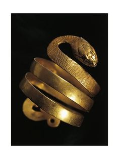 Giclee Print: Roman Civilization, Goldsmith Art, Gold Bracelet the Form of Snake : Snake Bracelet, Snake Jewelry, Back Jewelry, Ancient Jewelry, Antique Jewelry, Mens Gold Jewelry, Ladies Jewelry, Roman Jewelry, Ancient Artifacts