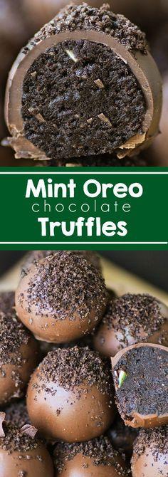 Mint Oreo Truffles - Swanky Recipes - Mint Chocolate I Oreo Truffle I Chocolate Dessert I Easy Ingredients I Cream Cheese Truffles I Cookies  #chocolate #truffle #christmas