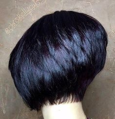 Dark Short Stacked Bob